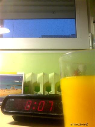 Desayunando muy tarde