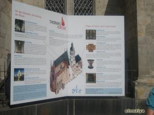 Cartel de la Thomas Kirche explicando todo lo de Bach.