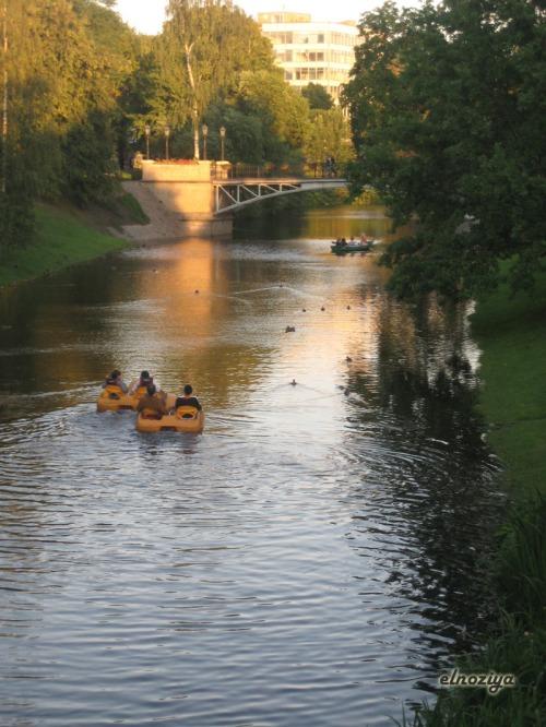 Foto de uno de los parques de Riga