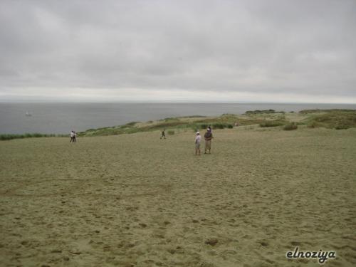 Desde la duna de Nida, al fondo Rusia.