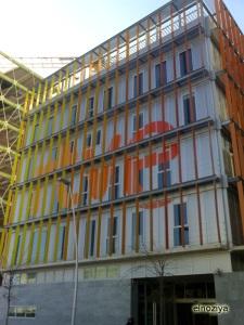 Edificio nuevo de RTVE en la facultad de Comunicación o algo así.