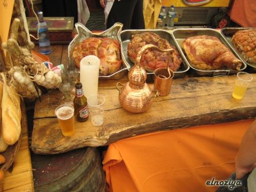 Comida en la feria medieval